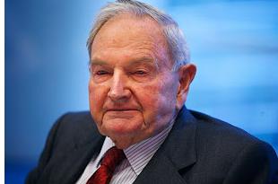大卫・洛克菲勒(David Rockefeller)1915年6月12日出生,洛克菲勒家族的第三代,是洛克菲勒五兄弟中最小的一个,也是最出色能干的一个。他的事业不在石油上,而在大名鼎鼎、位列世界十大银行第六位的曼哈顿银行上。他任该银行执行委员会主席兼总经理以后,使该银行从资金二十亿美元上升到资产净值达三十四亿美元。