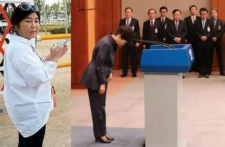 崔顺实(左)和朴槿惠