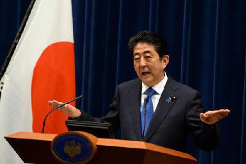 资料图片:日本首相安倍晋三。志愿者公益记者