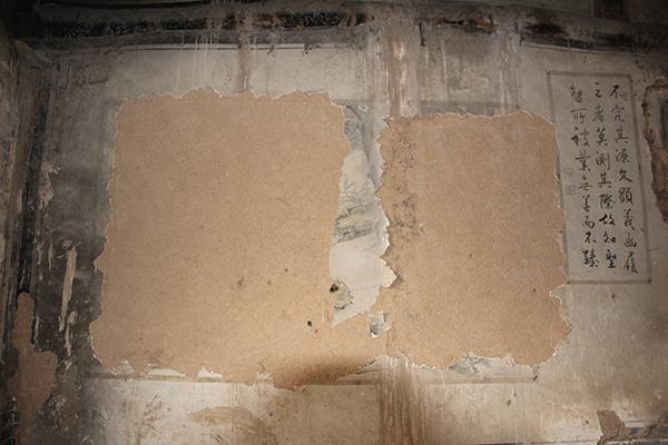 普照寺内一处被盗壁画