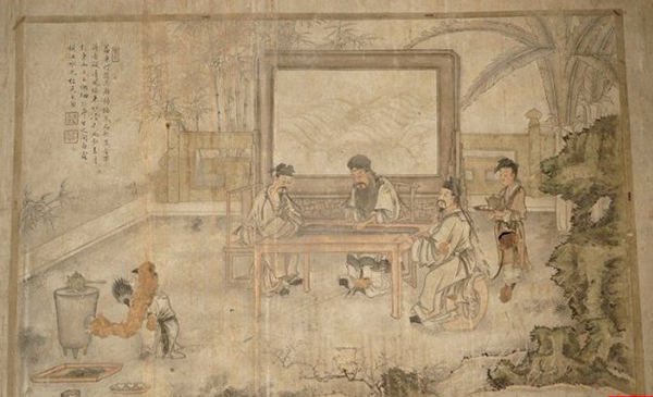 普照寺被盗壁画对比图