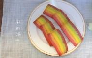 清新治愈系的彩虹饼干