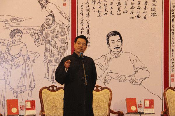 中国戏剧家协会主席濮存昕现场助兴朗读《野草》的题辞