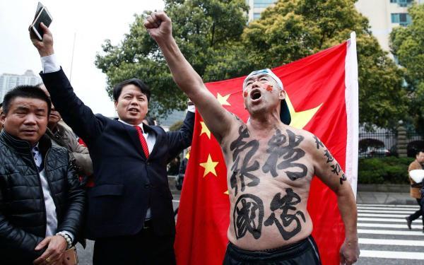 场外的中国球迷。