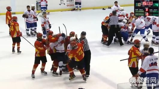 u18观众世锦赛中国队与中华台北队打群架疑因冰球挑衅(视频)木芙蓉视频图片