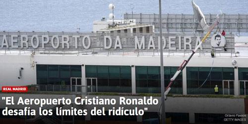 政客狂讽以C罗命名机场:太荒谬 是在嘲讽公正
