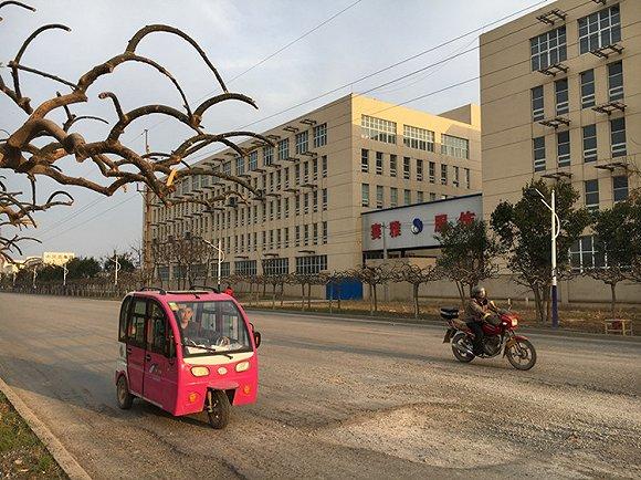 (在冠县工业园区,源大公司与赛雅公司只有一路之隔。摄影:刘向南)