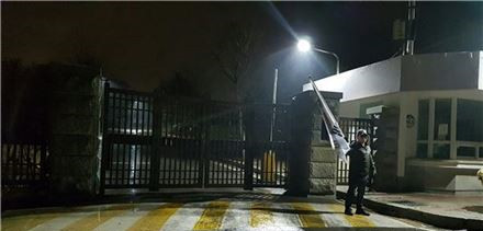 图为朴槿惠遭到关押的首尔拘留所