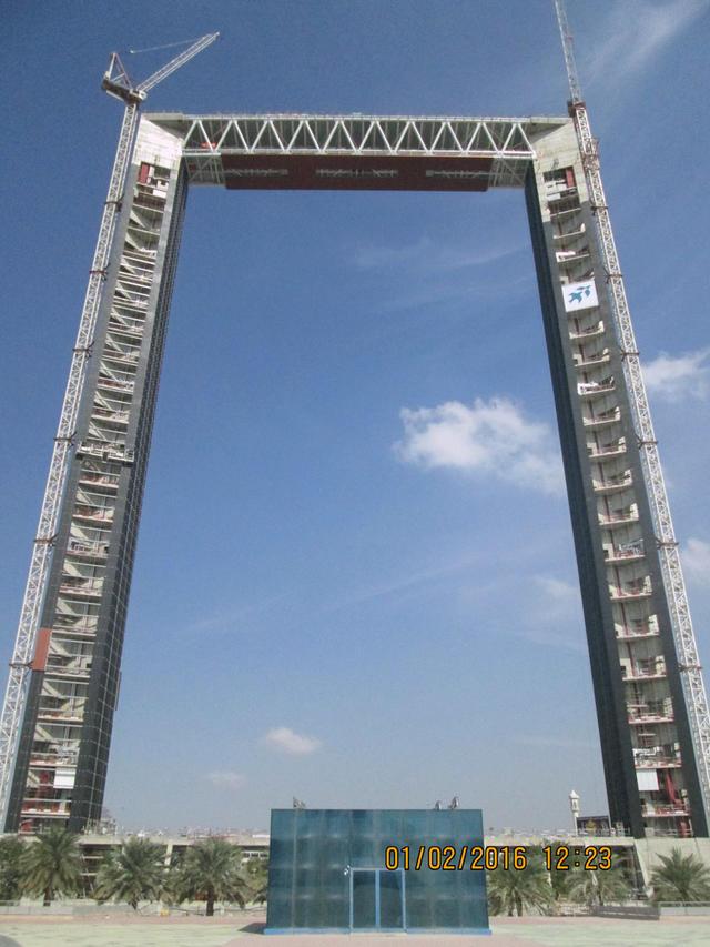 迪拜之框。