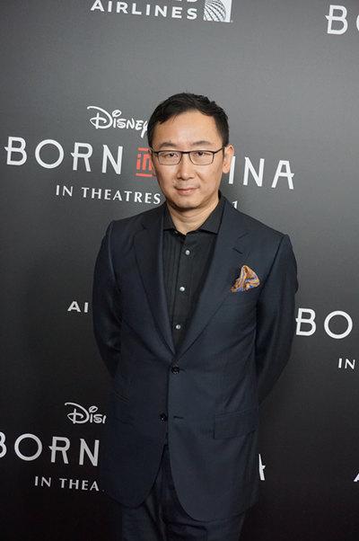 陆川导演出席《我们诞生在中国》洛杉矶首映。