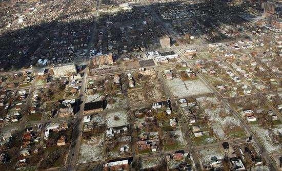 衰败的底特律城区