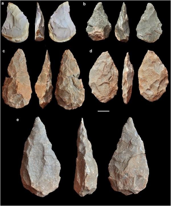 阿舍利文化手斧和燧石