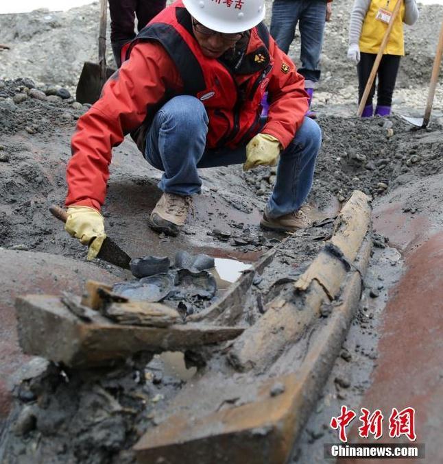考古发掘现场。 刘忠俊 摄