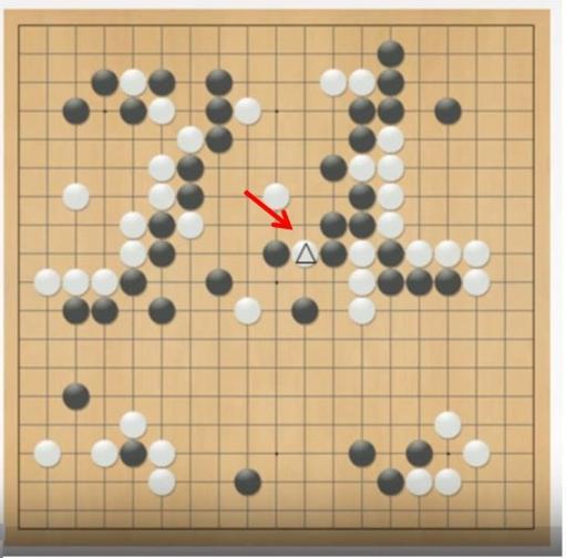 第四局里,李世石第78步的创新之举。