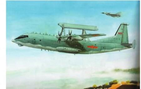 空警200预警机与护航的歼10战斗机