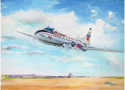 """""""北京""""号康维尔CV-240飞机胜利完成中国民航首航任务"""