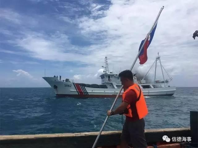 值得一提的是,2016年6月12日,菲律宾青年团体试图登陆中国南海黄岩岛,中国海警船(包括3062)对其进行拦截,使其登岛企图落空。12日是菲律宾的独立纪念日,共有15名菲律宾人和1名美国人参加了当天的行动。