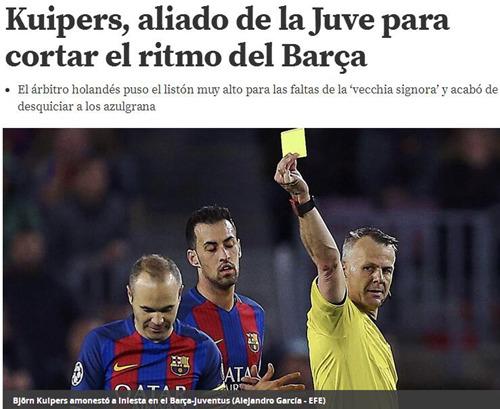 巴萨喉舌:输球因裁判是尤文盟友