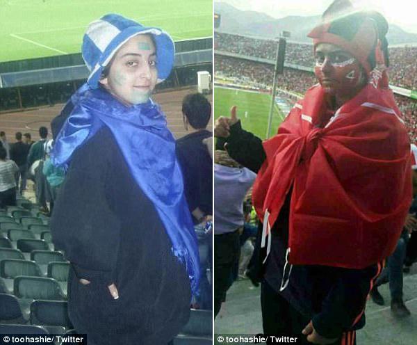 【环球网综合报道】据英国《每日邮报》4月18日报道,近日,伊朗八名女子为了在现场观看德黑兰足球队和波斯波利斯足球队之间的比赛,女扮男装混入了德黑兰市的阿扎迪体育场,却遭到逮捕。目前,她们将会被起诉并处以罚金。