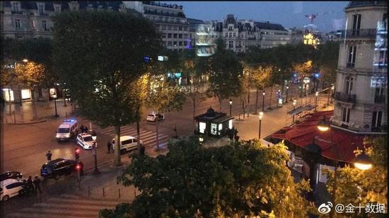 法国巴黎香榭丽舍大街20日晚发生枪击事件