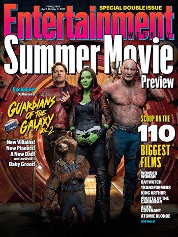 《银河护卫队2》登上《娱乐周刊》封面