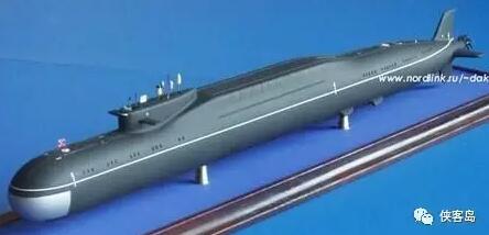 传说中的096型弹道导弹核潜艇模型