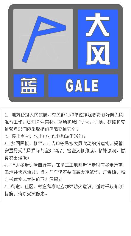 北京发布大风蓝色预警 阵风6、7级局地有扬沙