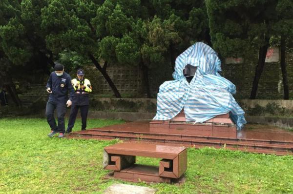 又一蒋介石铜像遭破坏 郝龙斌:蔡当局制造仇恨