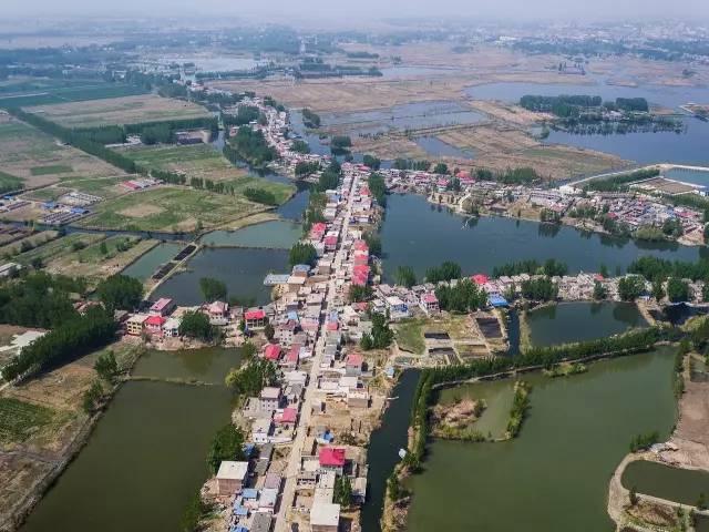 安新县大王镇航拍图