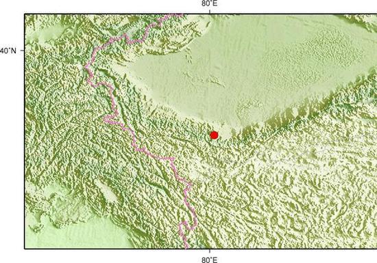 新疆和田县发生3.1级地震 震源深度10千米