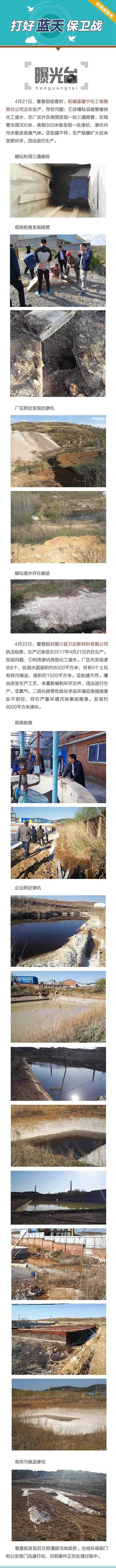 山西两化工企业涉偷排废水 发现大面积渗坑(图)