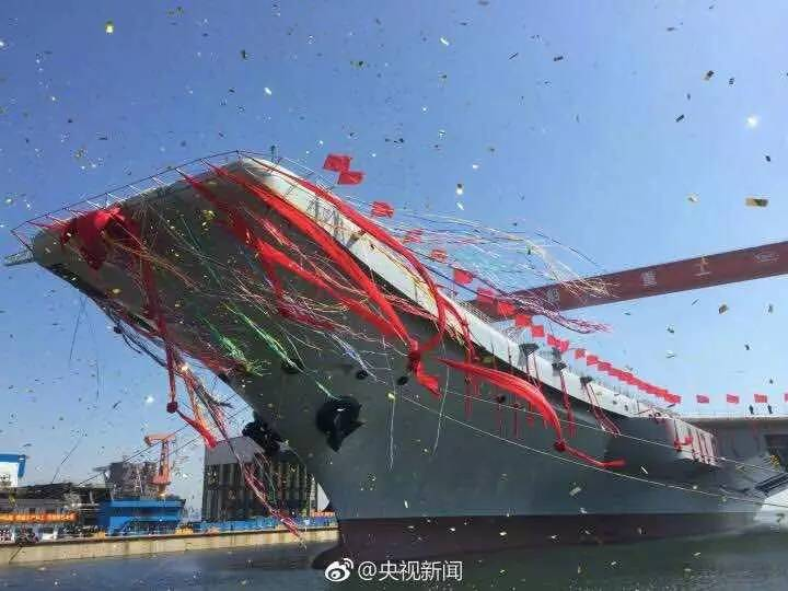 中国首艘国产航母下水 还有哪些国度有航母?签
