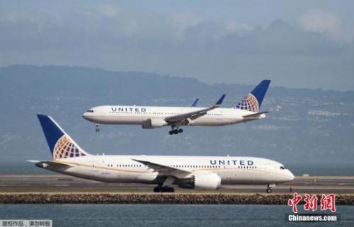 资料图:美联航班机