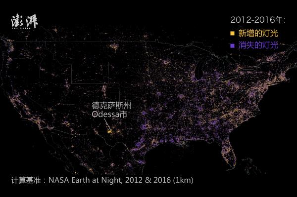 地图湃 | 夜间的地球:从四年内的灯光变化可以看出什么?