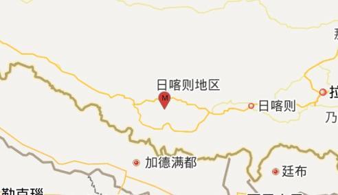 西藏日喀则市萨嘎县发生3.2级地震 震源深度5千米