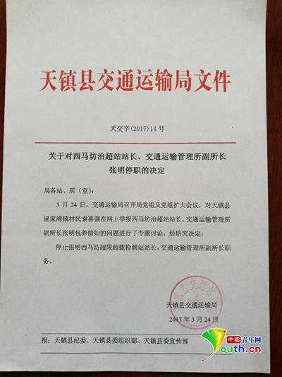 天镇县交通局文件