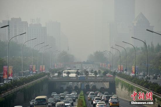 北京发布沙尘蓝色预警信号 能见度明显下降(图)