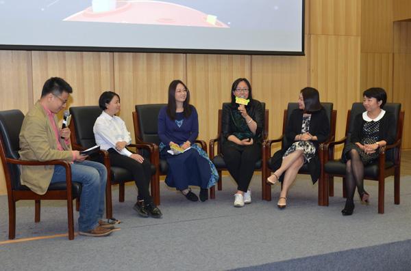 论坛:解剖亲子阅读误区,指导父母如何选书(左起:李一慢、三川玲、李峥嵘、朱有琛、陈妍、黄纷纷)