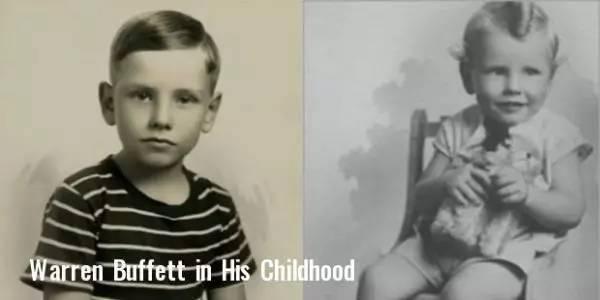 巴菲特童年的萌照