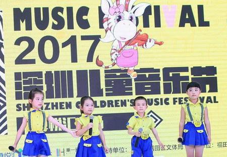 上周深圳儿童音乐节初赛现场