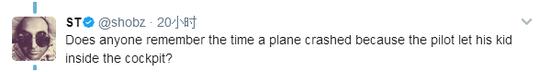 有没有人记得一次飞行员让他的孩子进驾驶舱,结果飞机坠机了。