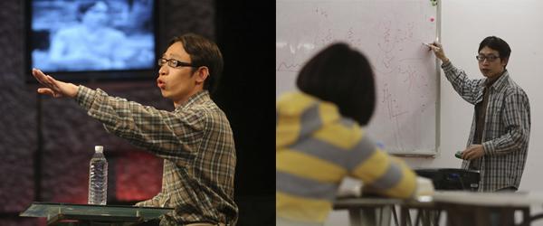 """左:2008年6月6日,北京,""""范跑跑""""在参加节目中反驳他人观点,阐述自己的言论。 视觉中国 资料图"""