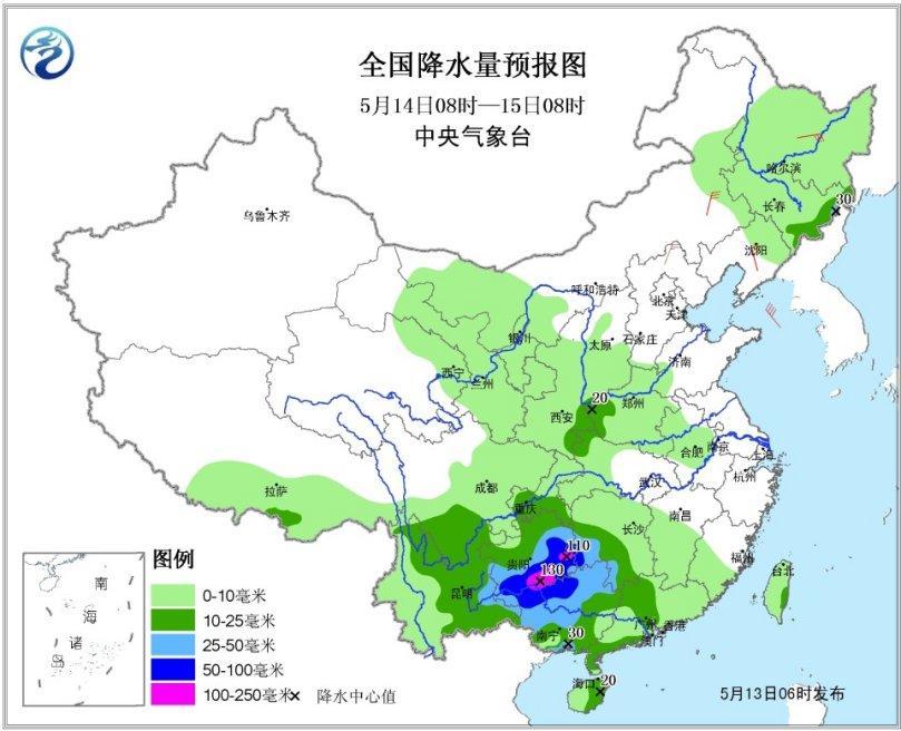 江南南部华南等地将迎强降水 东北局地有明显降雨