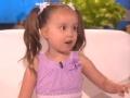 《艾伦秀第14季片花》第一百五十四期 5岁萝莉号称最聪明天才 轻松解答问题圈粉艾伦