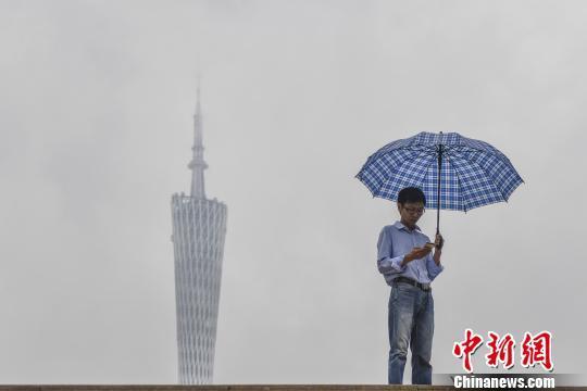 广州市区雨量不大。 陈骥旻 摄