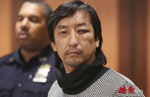 51岁韩裔流浪汉金保罗出庭时的资料照片。(美国《侨报》图片)