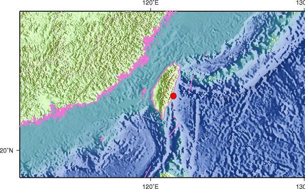 据中国地震台网测定,北京时间2017年5月16日7时12分在台湾台东县(北纬23.31度,东经121.49度)发生5.6级地震,震源深度10千米。(央视记者 赵超逸)