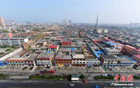 从高空俯瞰河北容城资料图。中新社记者 翟羽佳 摄