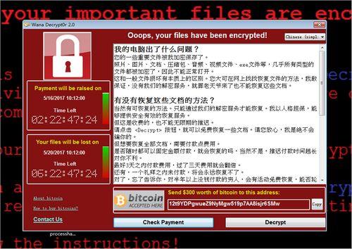 资料图:被勒索病毒攻击后电脑弹出的窗口。腾讯反病毒实验室供图