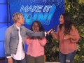 《艾伦秀第14季片花》第一百五十六期 艾伦模仿女观众变猩猩 美女频错题被水浇遭嘲